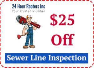 drain line inspection coupon